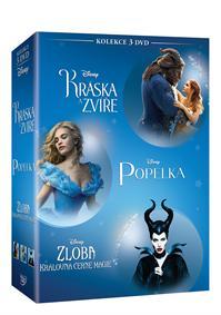 Kráska a zvíře + Popelka + Zloba - Královna černé magie kolekce 3DVD