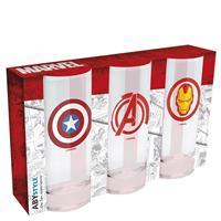 Sklenice Marvel set 3ks