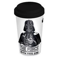 Hrnek Star Wars - Force is Strong cestovní 340 ml