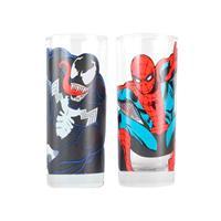 Sklenice Spider-Man a Venom set 2 ks