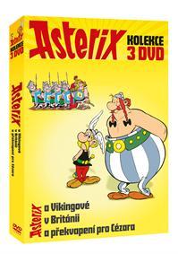 Asterix kolekce 3DVD (Asterix a Vikingové + Asterix v Británii + Asterix a překvapení pro Cézara) DV