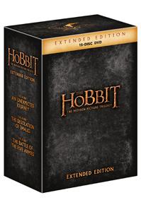 Hobit kolekce 1.-3. - prodloužené verze 15DVD